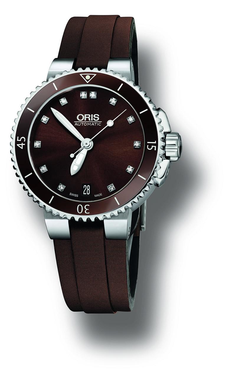 Oris Aquis Date Diamonds 01 733 7652 4192-07 5 18 12FC