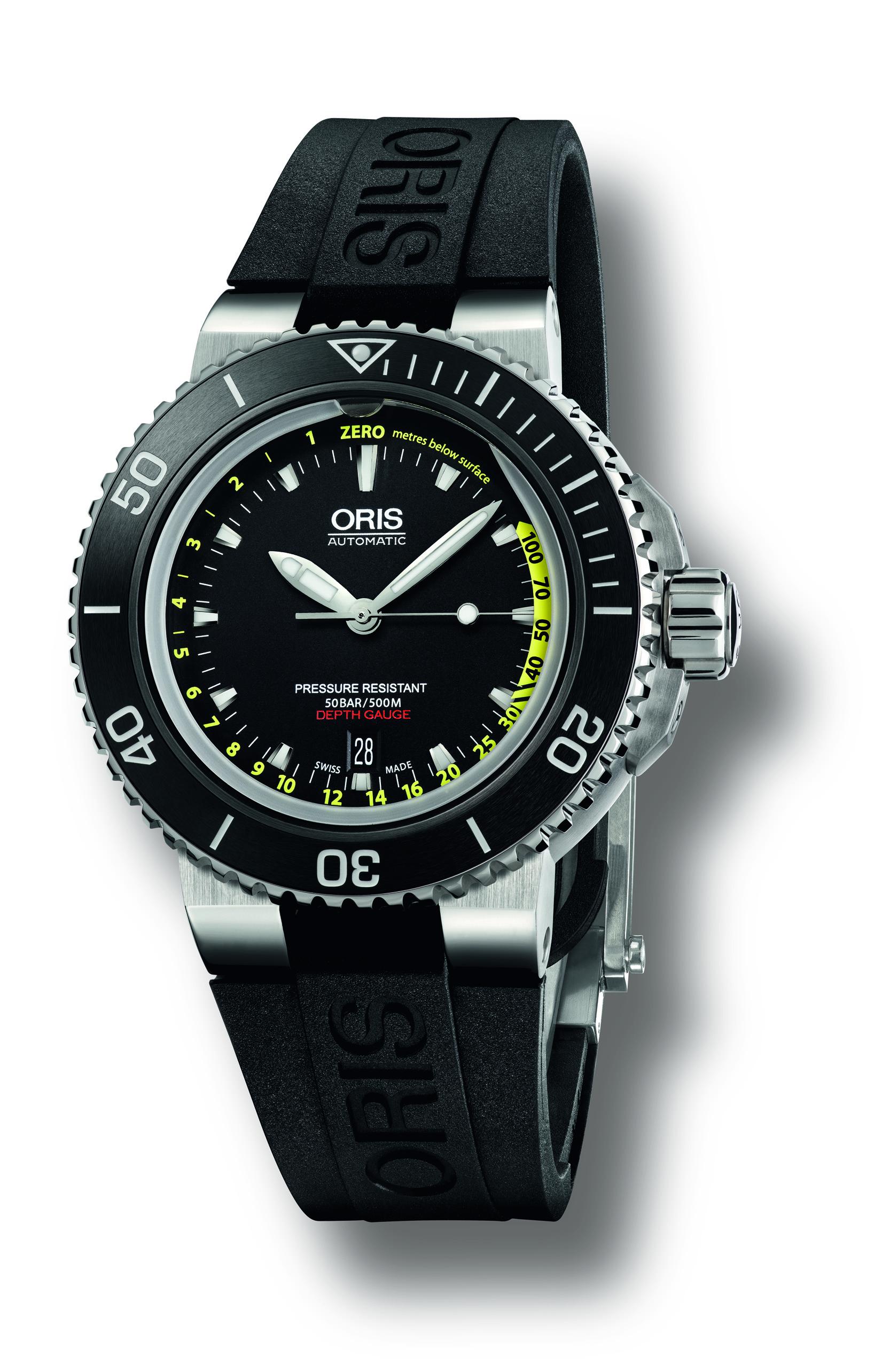 Oris Aquis Depth Gauge 01 733 7675 4154 SET