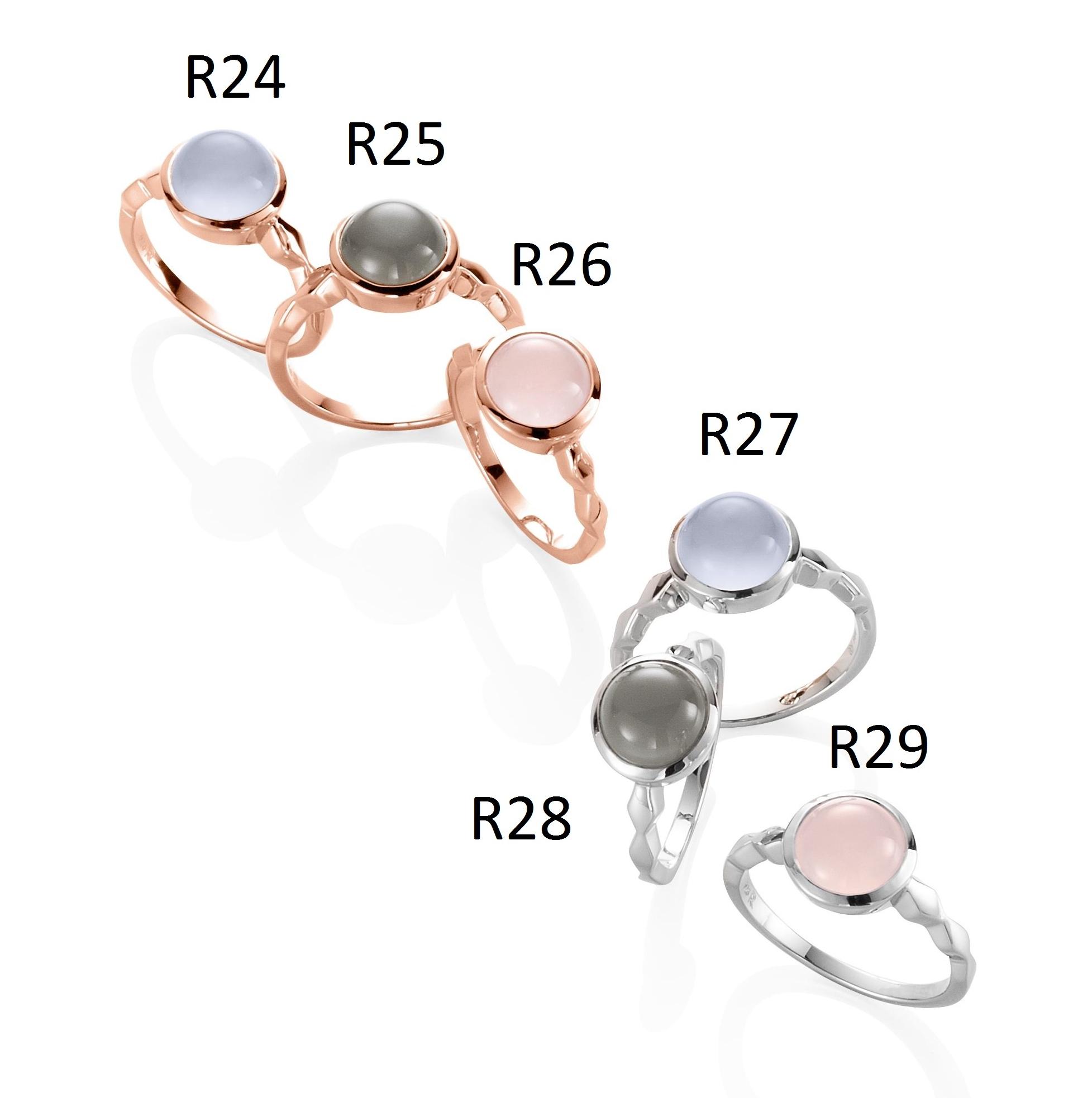 Ratius Ringe verschiedene Farbsteine und Plattierungen R24,R25,R26,R27,R28,R29