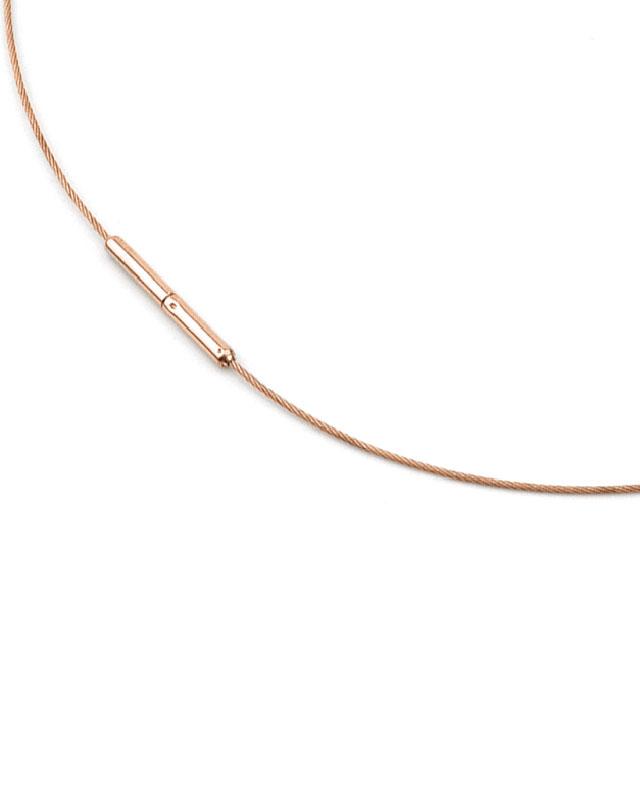 Boccia Titanium Collier rosegoldplattiert Mod: 0802-03 NEU