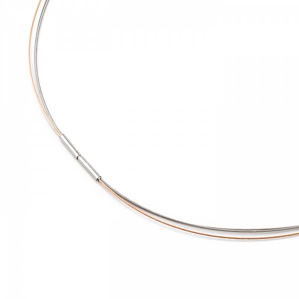 Boccia Titanium Collier Bicolor Mod: 0804-03 NEU