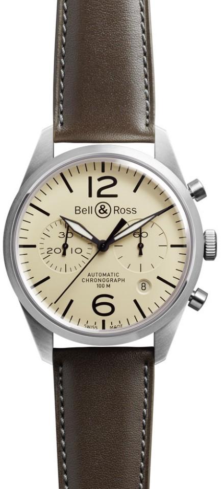 Bell&Ross BR126 Chronograph Original Beige mit Lederband