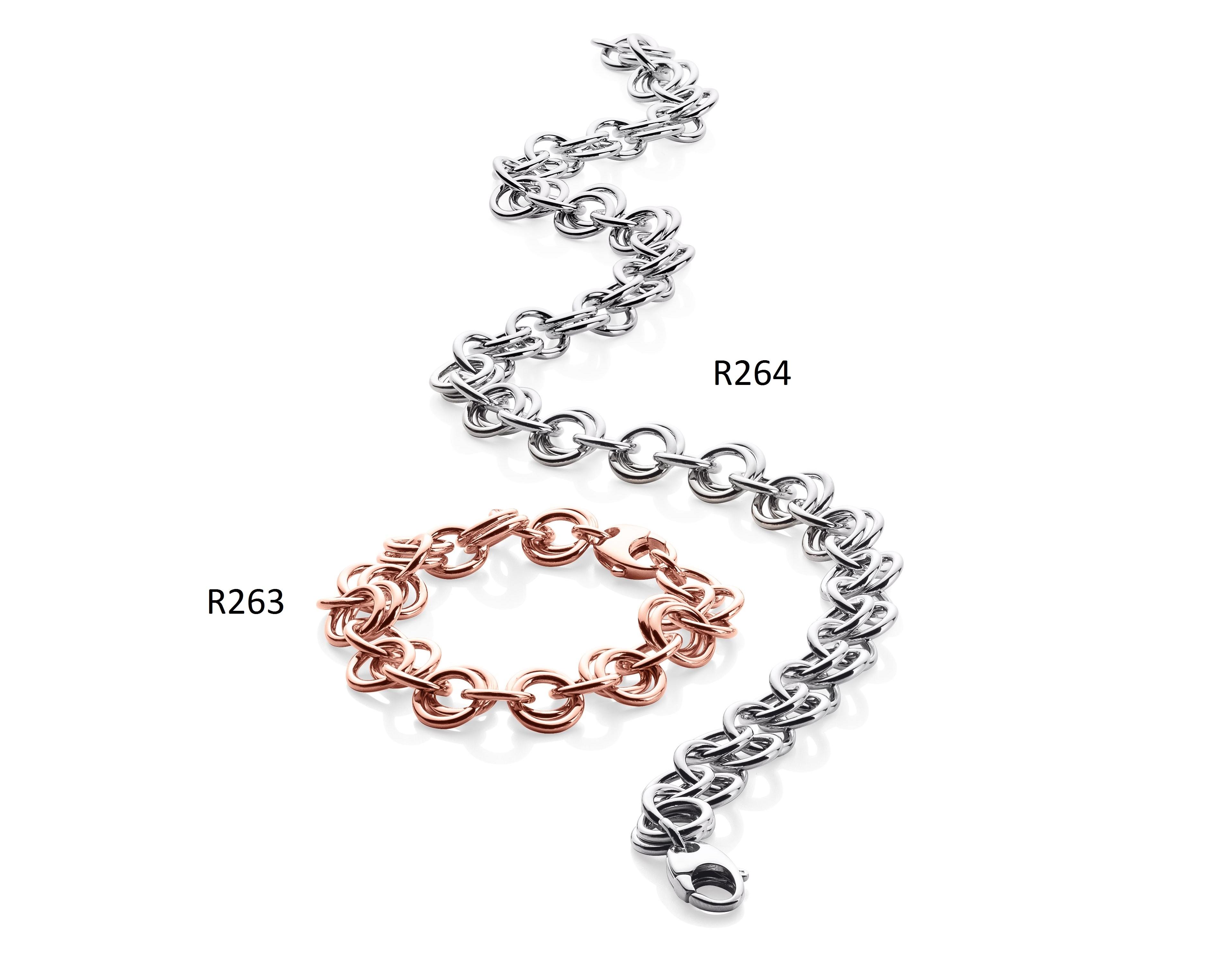 Ratius Armband + Kette verschiedene Plattierungen R263,R264