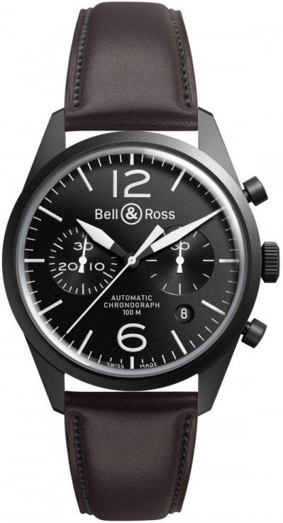 Bell&Ross BR126 Chronograph Original Carbon mit Lederband