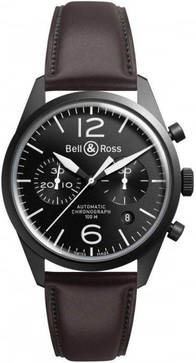 Bell&Ross BR126 Chronograph Original Carbon mit Lederband
