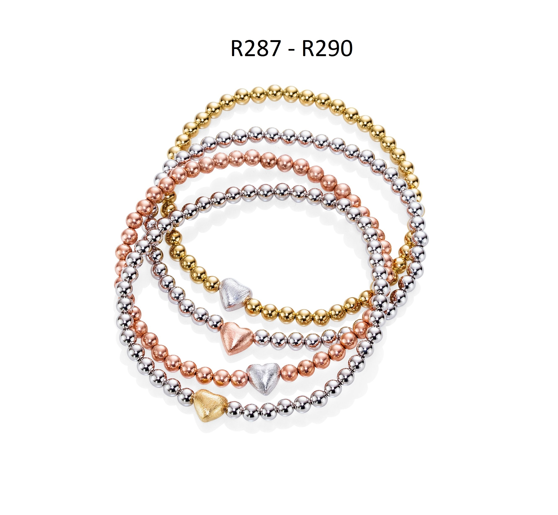 Ratius Armbänder 925/ Sterling - Silber mit verschiedene Plattierungen R287,R288,R289,R290
