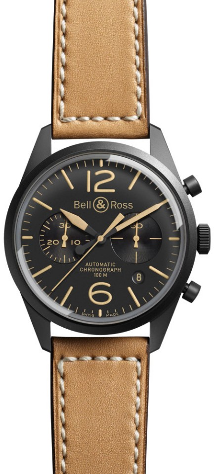 Bell&Ross BR126 Chronograph Heritage mit Lederband