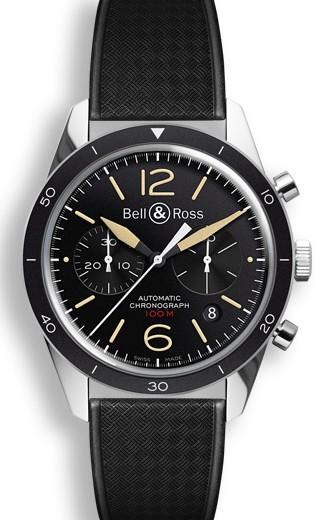 Bell&Ross BR126 Chronograph Sport Heritage mit Kautschukband