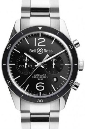 Bell&Ross BR126 Chronograph Sport mit Stahlband