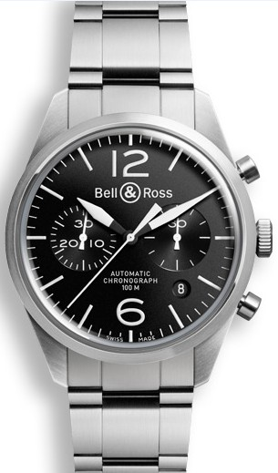 Bell&Ross BR126 Chronograph Original Black mit Stahlband