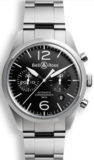 Bell&Ross BR126 Chronograph Original Black mit Stahlband