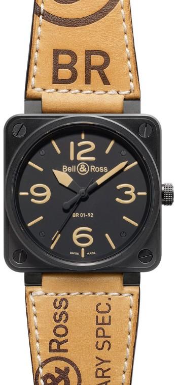 Bell&Ross BR01-92 Heritage mit Lederband