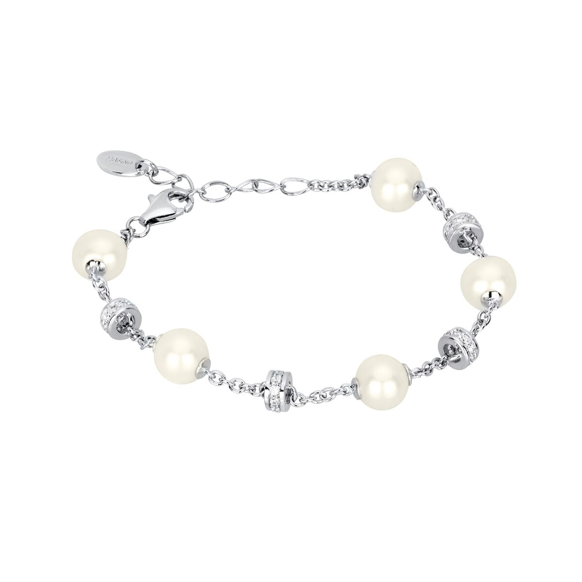 Mabina Gioielli Armband mit Zuchtperle und Zirkonia 533135 NEU