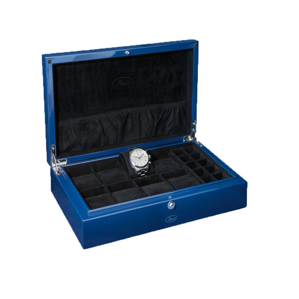 Beco Uhrenbox blau NEU