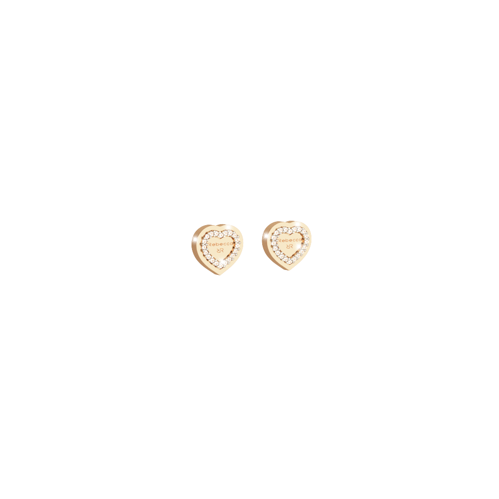 My Love Ohrringe Bronze-vergoldet in Herzform NEU