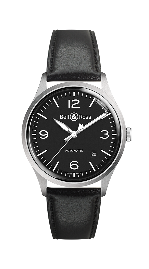 Bell&Ross BR V1-92 BLACK STEEL NEU