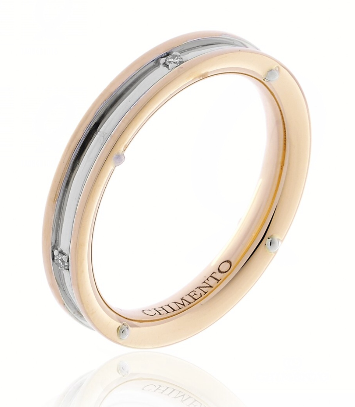 Chimento Damenring 1A08481B16 in 750/00 Rotgold
