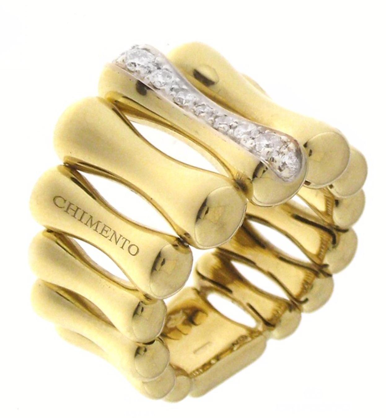Chimento Damenring Bamboo 1A05895B12 in 750/00 Gelbgold-Brillanten