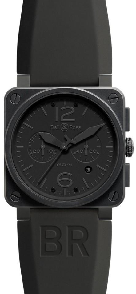 Bell&Ross BR03-94 Commando Chronograph mit Kautschukband