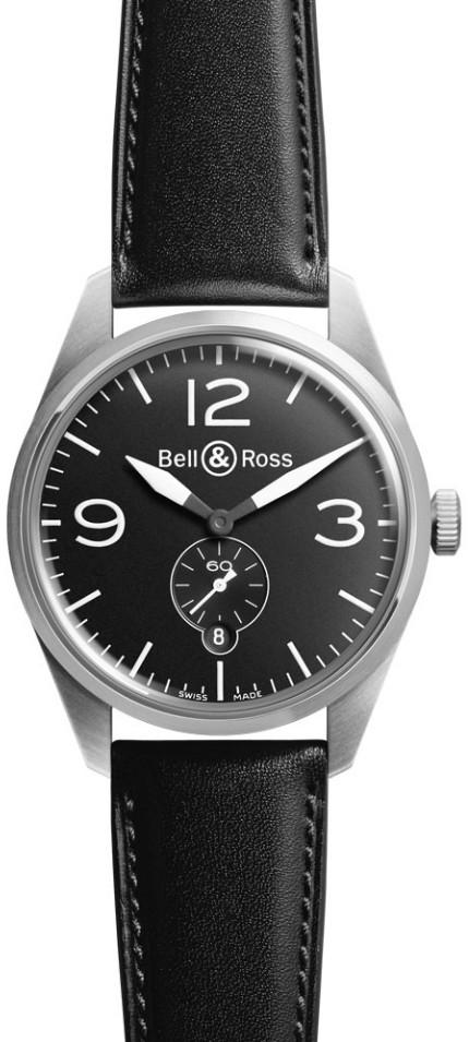 Bell&Ross BR123 Original Black mit Lederband