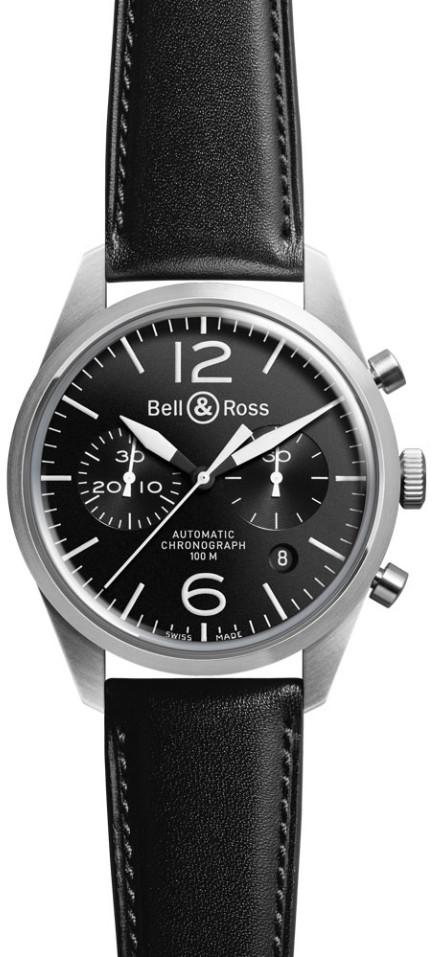 Bell&Ross BR126 Chronograph Original Black mit Lederband