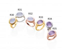 Ratius Ringe verschiedene Farbsteine und Plattierungen R30, R31, R32, R33, R34, R35