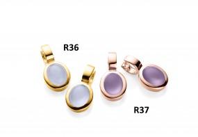 Ratius Ohrringe verschiedene Farbsteine und Plattierungen R36 R37