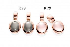 Ratius Creolen verschiedene Farbsteine und Plattierungen R78 ,R79