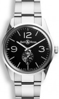 Bell&Ross BR123 Officer Black mit Stahlband