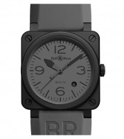 Bell&Ross BR03-92 Commando Ceramic mit Kautschukband