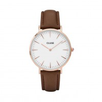 Cluse La Bohème Rose White/Brown Mod: CL18010 inkl. Glasperlenarmband NEU
