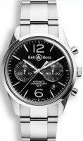 Bell&Ross BR126 Chronograph Officer Black mit Stahlband