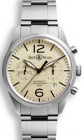 Bell&Ross BR126 Chronograph Original Beige mit Stahlband