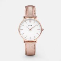 Cluse Minuit Rose White/Rose Metallic Mod: CL30038 inkl. Glasperlenarmband NEU