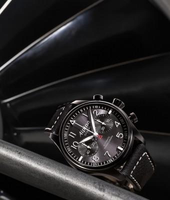 Startimer Pilot Automatic Chrono Blackstar inkl.Ersatzband NEU