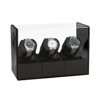 Beco Uhrenbeweger Satin Carbon 3 inkl.Netzteil und Batterien
