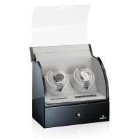 Designhütte Uhrenbeweger Basel 2 LCD Schwarz