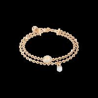 Boulevard Pearl Armband Bronze-vergoldet mit Kristallen und Perle NEU