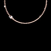 Boulevard Pearl Halskette Bronze-rosevergoldet mit Perle NEU