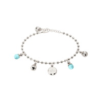 Boulevard Stone Armband Bronze-versilbert mit Kristallen und blauen Steinen NEU