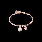 Boulevard Stone Armband Bronze-rosevergoldet mit Kristallen und Farbstein NEU