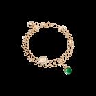 Boulevard Stone Armband Bronze-vergoldet mit grünem Stein NEU