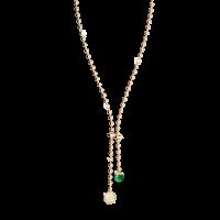 Boulevard Stone Halskette Bronze-vergoldet mit grünem Stein NEU