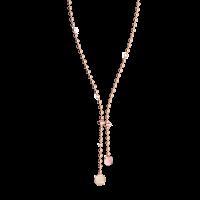 Boulevard Stone Halskette Bronze-rosevergoldet mit Kristallen und Farbstein NEU