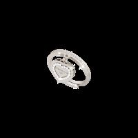 My Love Damenring Bronze-versilbert mit Herzanhänger NEU