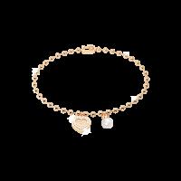 My Love Armband Bronze-vergoldet mit Herzanhänger und Perle NEU