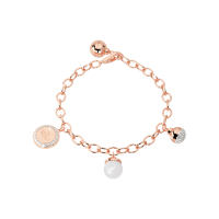 Hollywood Pearl Armband Bronze-rosevergoldet mit Perle NEU