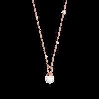 Hollywood Pearl Halskette Bronze-rosevergoldet mit Perlen NEU