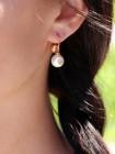 Hollywood Pearl Ohrringe Bronze-vergoldet mit Perle NEU