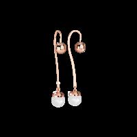 Hollywood Pearl Ohrringe Bronze-rosevergoldet mit Perle NEU